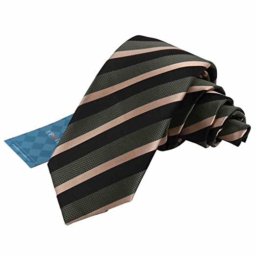6b4e3cf08be0 Epoint EAE1015 Green Silk Mens Skinny Tie Lot Creative Handmade Gift Stripes  Slim Tie