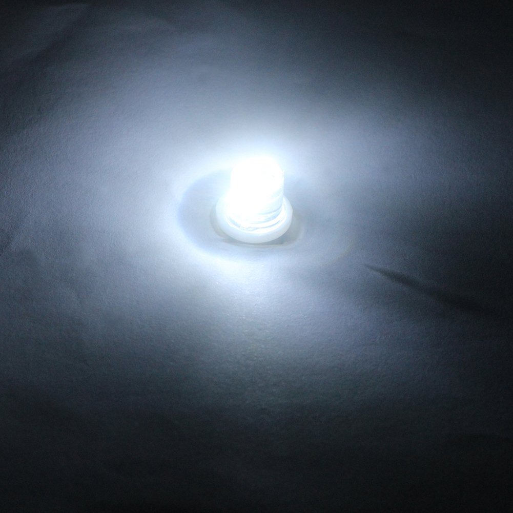 GutReise 10pcs E10 Screw 6V Flood Light Led Bulb Flood Light Lamps Red+10pcs E10 Base 6v, red
