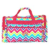 Personalized Multi Chevron Weekender Duffle Bag 22 Inch