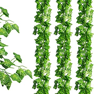 JPSOR 24 Pack (79 inch Each) Fake Ivy Artificial Ivy Leaves Greenery Garlands Hanging for Wedding Party Garden Wall Decoration 1