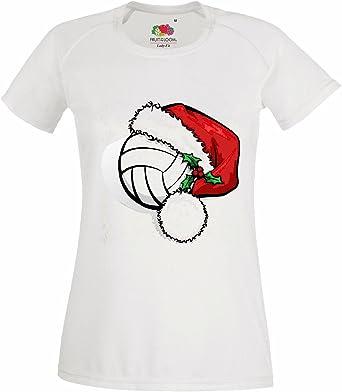 T-Shirt Camiseta Remera Feliz Navidad Bola del Voleibol Internacional DE LA Navidad PAPÁ Noel Equipo DE FÚTBOL DE Vida DE Manera Streetwear Hiphop Salsa Legendario en Blanco: Amazon.es: Ropa y accesorios