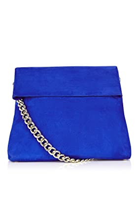 531eb13831 Karen Millen Blue Regent Suede Leather Tote Chain Shoulder Sling Hobo  Shopper Bag New: Amazon.co.uk: Clothing