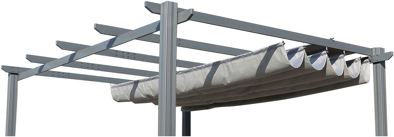 OUTFLEXX – Techo de Repuesto para Leco Pergola, Antracita, poliéster, Impermeable, 400 x 300 cm: Amazon.es: Jardín