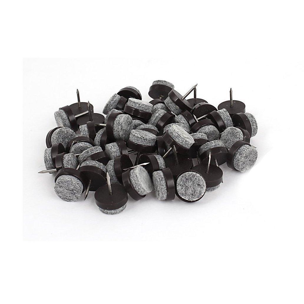TOOGOO 50 pzs Almohadilla de fieltro de suelo de pata de mesa Protector de clavo DIY de deslizamiento de resbalon 17mm Clavo R