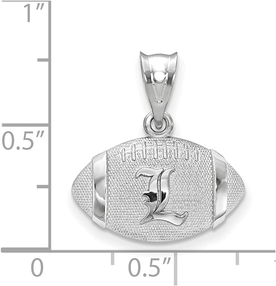 FB Jewels Solid 925 Sterling Silver University Of Louisville Football Pendant