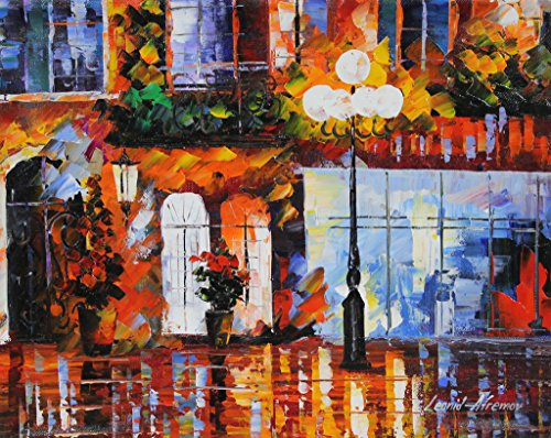 Old Original Art Painting - Old City is a ONE-OF-A-KIND, ORIGINAL OIL PAINTING ON CANVAS by Leonid AFREMOV …