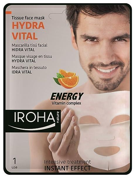 Iroha Mascarilla Facial Hidratante con Vitamina C - 3 Paquetes de 100 gr - Total: