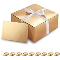BTSCHOOL Gift Box, Gift Boxes Bulk, Gold Bridesmaid Paper Gift Boxes with Lids for Gifts, Crafting, Cupcake Boxes, with…