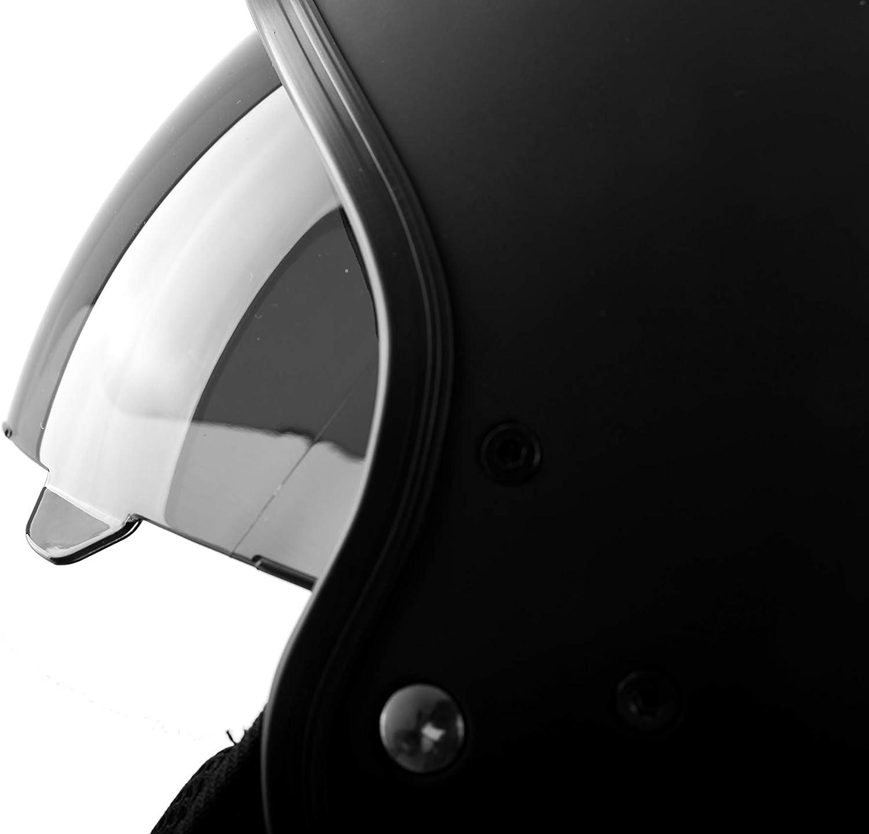 Matte Black Westt Vintage Motorcycle Helmet Open Face Helmet Retro Style for Motorcycle Scooter Moped with Sun Visor DOT Certified