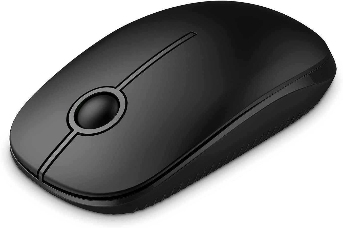 Jelly Comb 2.4G Slim Wireless Mouse with Nano Receiver, Less Noise, Portable Mobile Optical Mice for Notebook, PC, Laptop, Computer, MacBook - Black