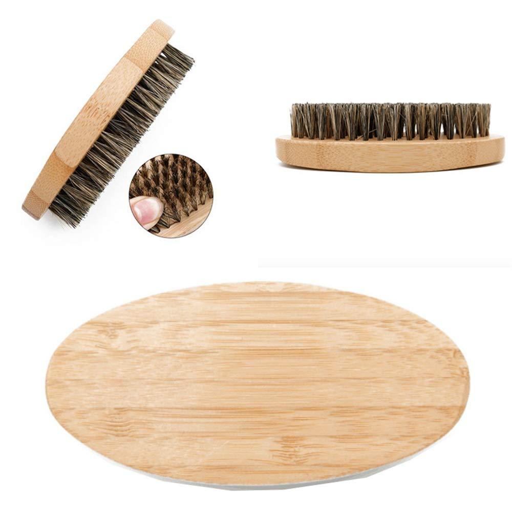 soins des cheveux Brosse à poils de sanglier 3Pcs avec manche en bois pour bouffées de chaleur, coiffage, volumisation, lissage et frisage, cheveux mi-longs, fins, épais, droits, bouclés les accessoir Wenzhihua