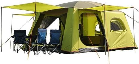 Tienda de campaña para deportes al aire libre, dos dormitorios, una sala de estar, 5 – 8