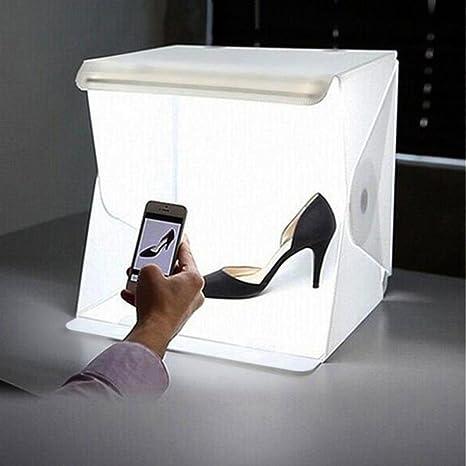 Mini Caja de iluminación de Estudio fotográfico Fondo LED luz ...