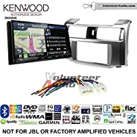 Volunteer Audio Kenwood Excelon DNX994S Double Din Radio Install Kit with GPS Navigation Apple CarPlay Android Auto Fits 2010-2013 Non Amplified Toyota 4Runner