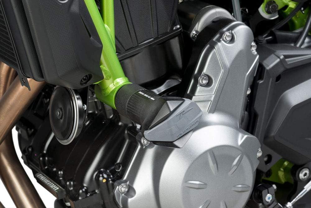 Noir Crashpads Puig roulettes de Protection Moteur R12 Kawasaki Z650 2017