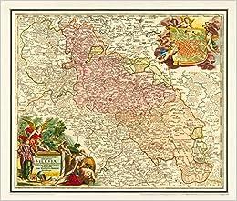 Historische Karte Schlesien 1724 Johann B Homann