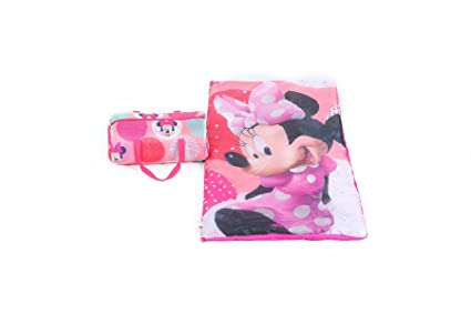 Disney Minnie Mouse saco de dormir con bolsa de transporte