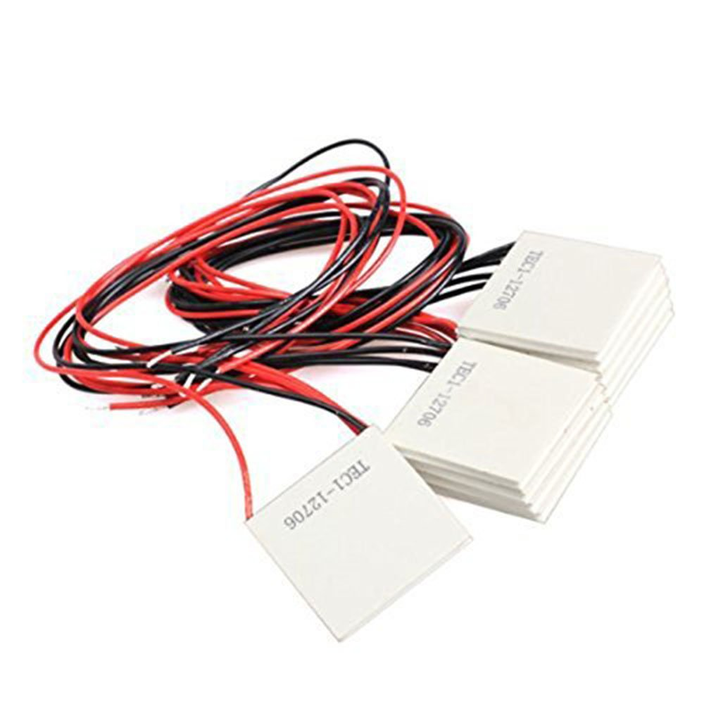 10Pcs TEC1-12706 40*40MM 12V 60W Heatsink Thermoelectric Cooler Cooling Peltier Plate Module by diymore (Image #3)