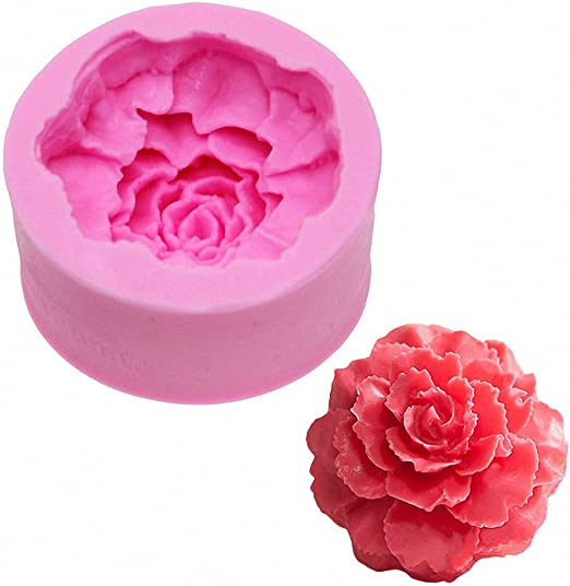 candles chocolate Kawaii molds Flower Silicone mold Carnation Mold gypsum 3D silicone mold \u0421arnation for soap