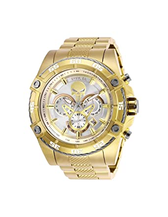 Invicta Mens Marvel Quartz Watch with Stainless-Steel Strap, Gold, 26 (Model