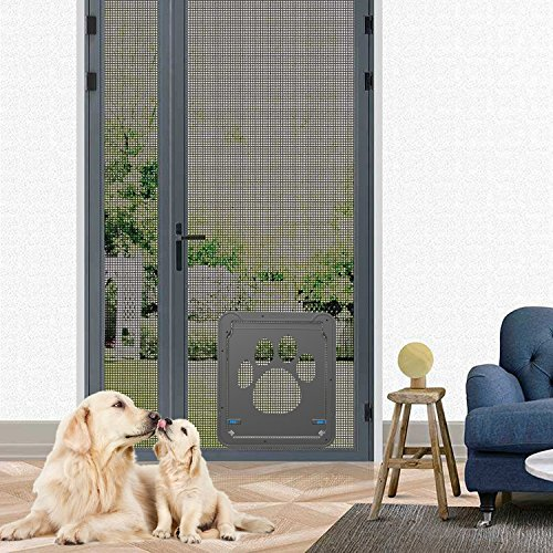 Dog-Door-Screen-Door-Pet-Screen-DoorAutomatic-LockLockable-Gen-3-12-x-14