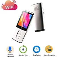 OOSSXX Smart Language Translator Device,Automatic Voice Translator with 2.4 inch Color Touch Screen,Two-Way Audio