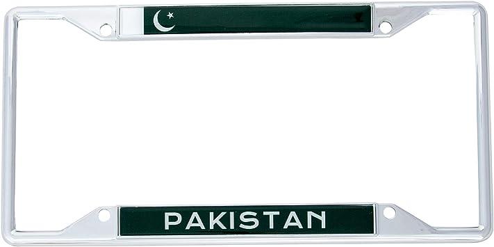 YEMEN FLAG CHROME COUNTRY License Plate Frame Stainless Metal Tag Holder