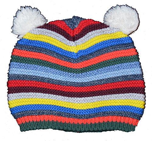BabyGap Baby Gap Crazy Stripe Bear Garter Sweater Beanie Hat 0-6 Months