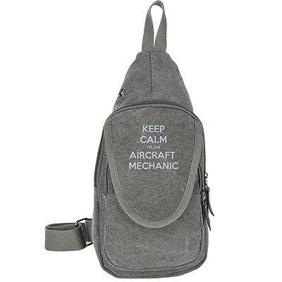 a9e817861fee Keep Calm I'm An Aircraft Mechanic Fashion Men's Bosom Bag Cross ...