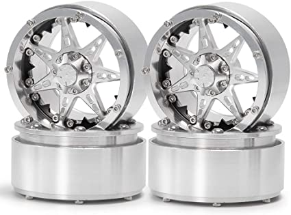 "2.2/"" Alloy Beadlock Wheels Rims for 1//10 RC Crawler Wraith TRX4 D90 SCX10 CC01"