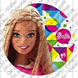 Barbie Sparkle Licensed Edible Cupcake / Cookie Toppers ~ 12 Per Sheet 49094