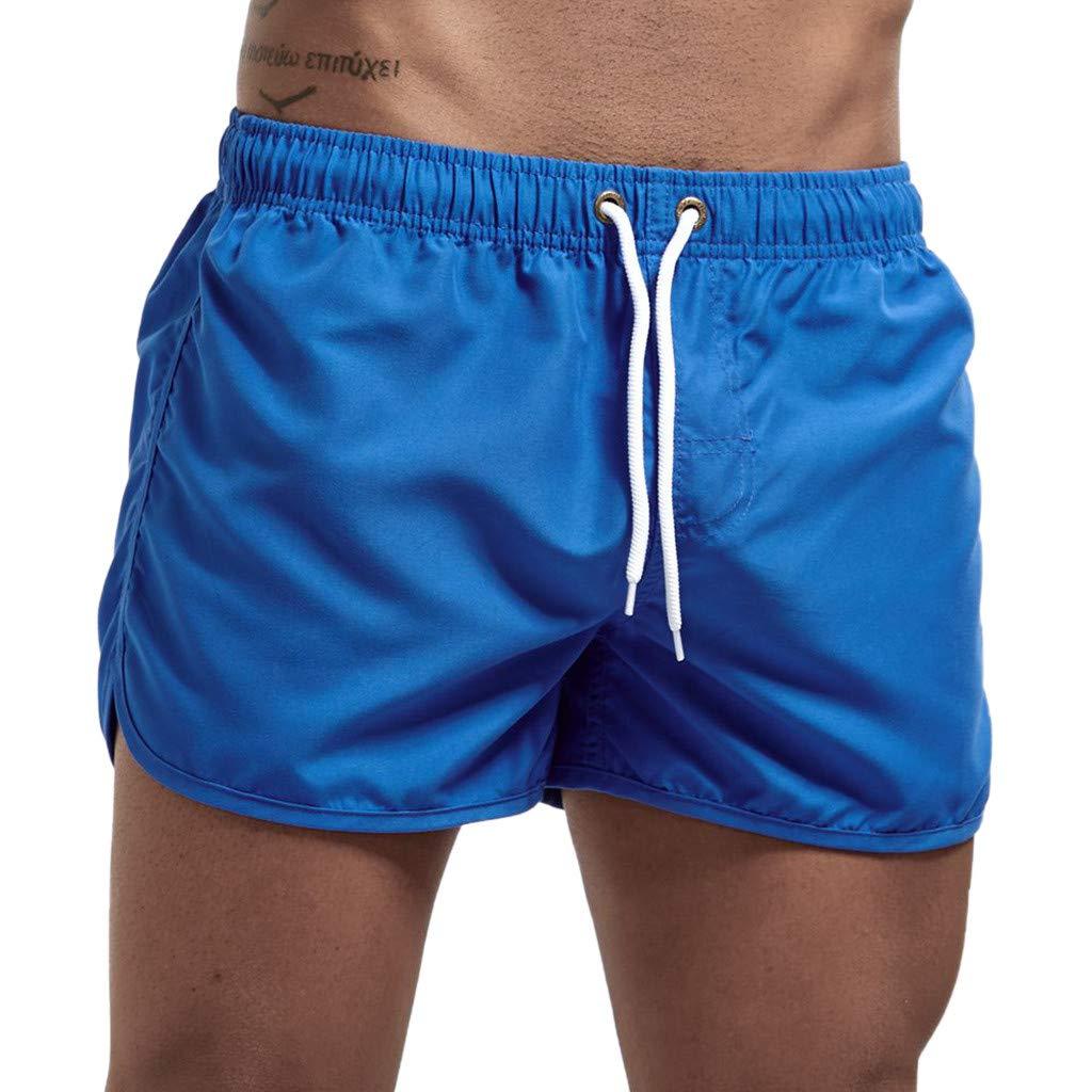 riou Pantalones Cortos de Playa para Hombres Moda de Primavera y Verano Casual Trabajo Corta Pantalones Pants Jogging Color s/ólido Deportivo Pantalon Ch/ándal Estilo Deportivos