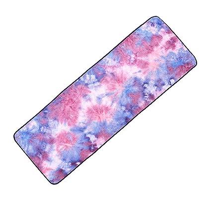 Amazon.com: Riverlily Tie-Dye Yoga Towel Microfiber Sport ...