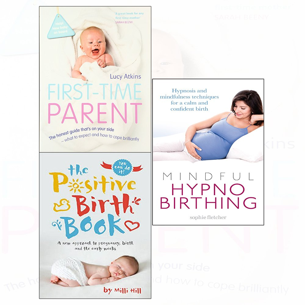 4 Collection Books Set NEW HypnoBirthing,First-Time Parent,What to Expect