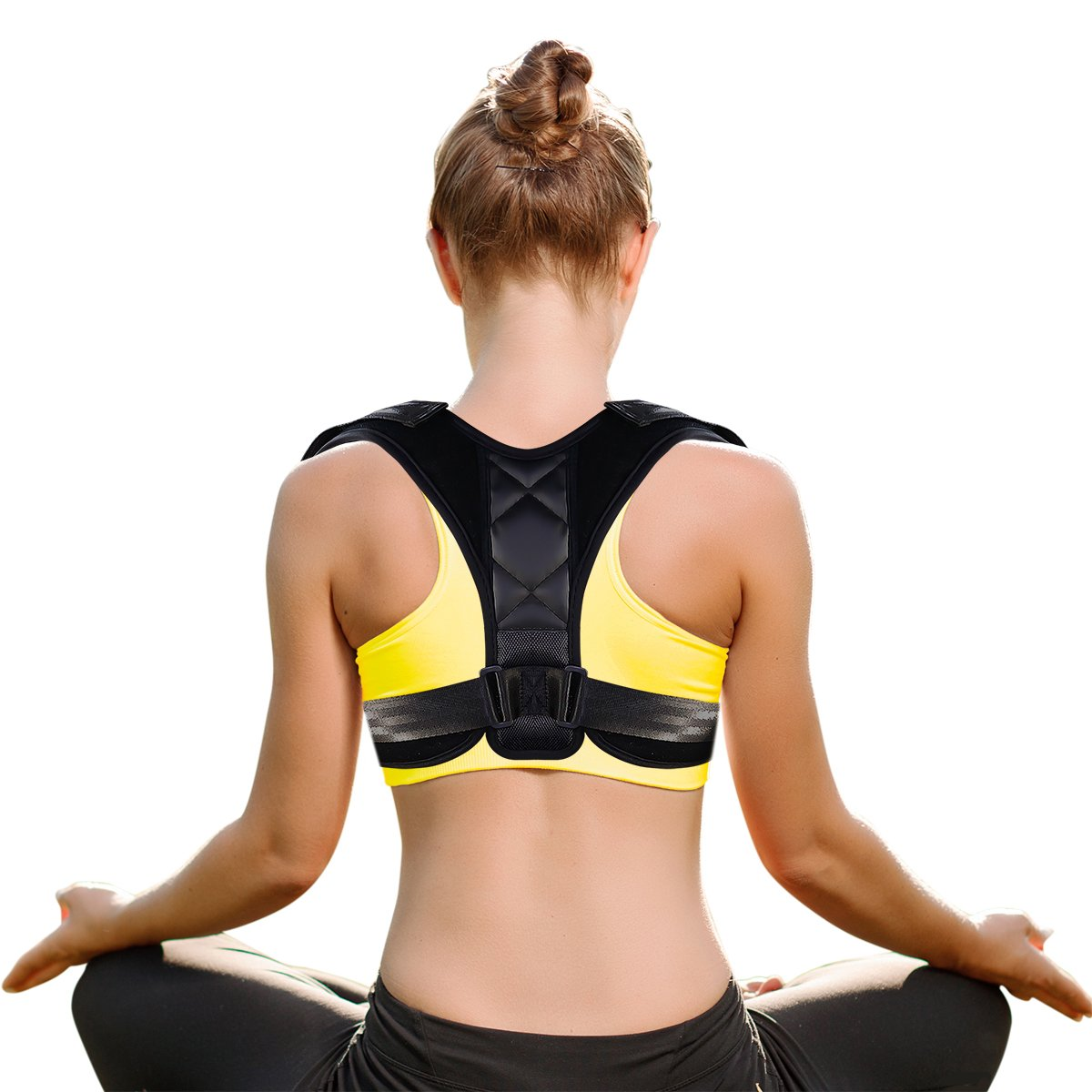 Posture Corrector for Women Men and Kids, Hualedi Back Support Posture Brace,Universal Adjustable and Comfortable [Upper Back Pain Relief] [Helps to Improve Posture]-Unisex Medical Orthopedic Brace by Hualedi