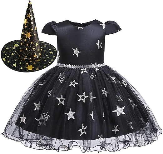Hibeisi Princesa Falda niña Arco Encaje Princesa Vestido niña de ...