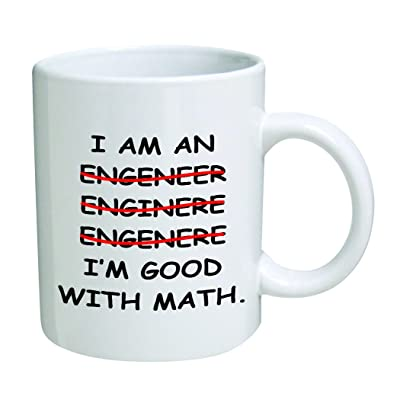 I'm An Engineer Good With Math Coffee Mug - 11 Oz Mug - Nice Motivational And Inspirational Office Gift by Go Banners