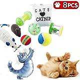 8 Jouets pour chat, jouet chaton, jeux pour chats et animaux, balle, souris, coussin...