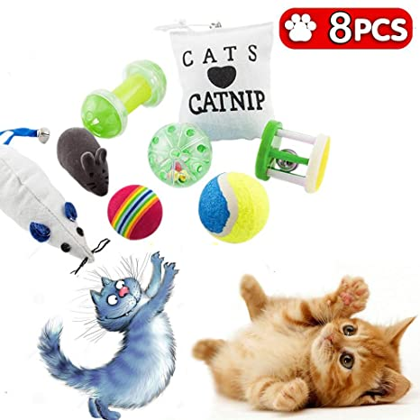 Juguetes gato, gatito, juegos juguete para gatos y animales, - Juego de 10