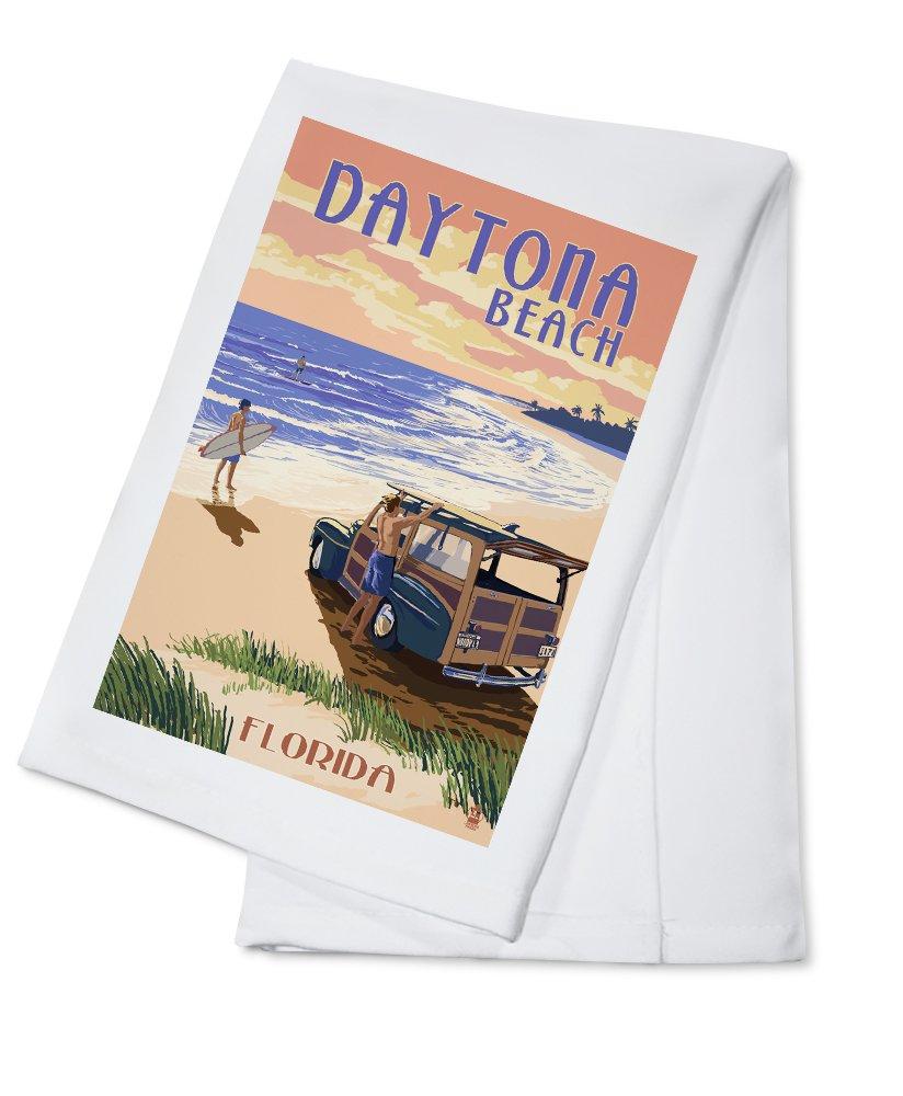 デイトナビーチ、フロリダ州 – Woody on the beach Cotton Towel LANT-44809-TL B0184BFAE2  Cotton Towel