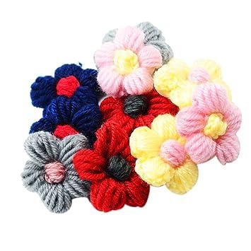Magideal 10er Set Filz Blumen Zum Basteln Nahen Niedliche Dekoidee