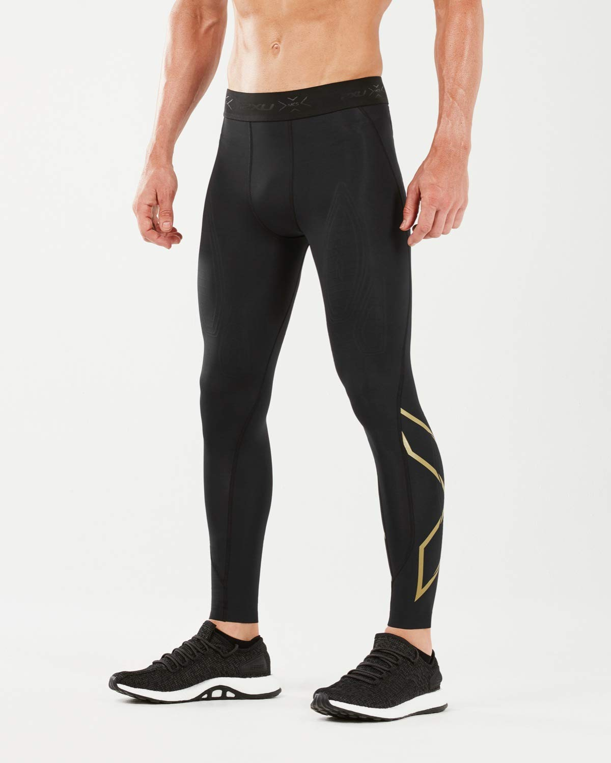 2XU MCS x Training Comp Tights, Black/Gold, Small