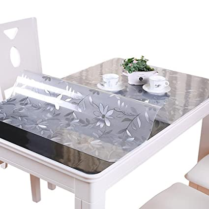 Valley Tree 1 5mm Floral Table Cover Protector Pvc Desk Pad Soft Glass Dining Tablecloth Transparent Top Cover Heavy Duty Plastic Mat For