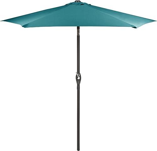 Nantucket 7.5 Foot Crank and Tilt Market Umbrella Teal
