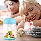 Loneyshow Micro Landscape humidifier Diffuser 180ml Cool Mist Humidifier with Adjustable Mist Mode, Waterless Auto Shut-off