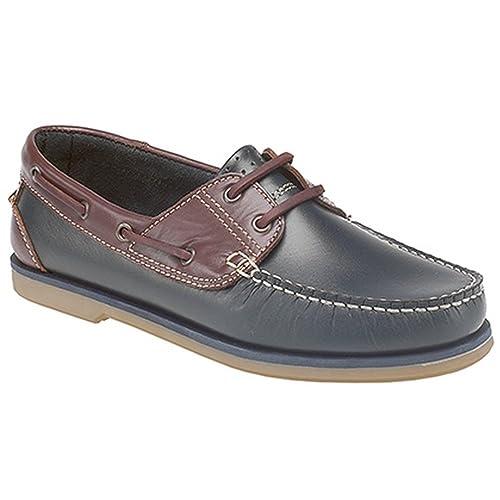 Dek - Mocasines para niños (39 EU/Azul Marino/Marrón): Amazon.es: Zapatos y complementos