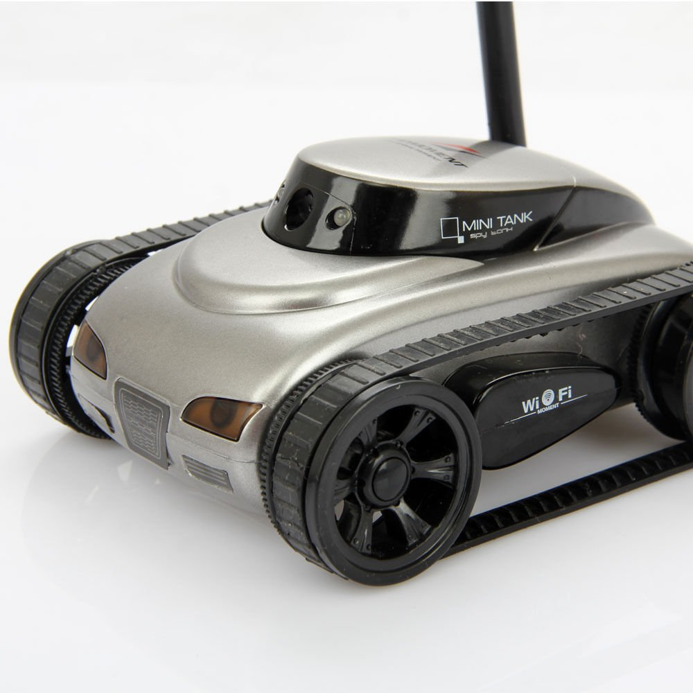 I-spy SPY Mini Tank Car Wifi App-controlled Move Motion and Video Camera for Iphone Android with 0.3mp Hd Camera (Grey) by Bo TOys (Image #5)