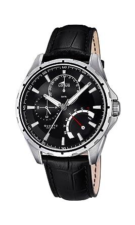 Lotus 18208/2 - Reloj de Pulsera Hombre, Cuero, Color Negro: Amazon.es: Relojes