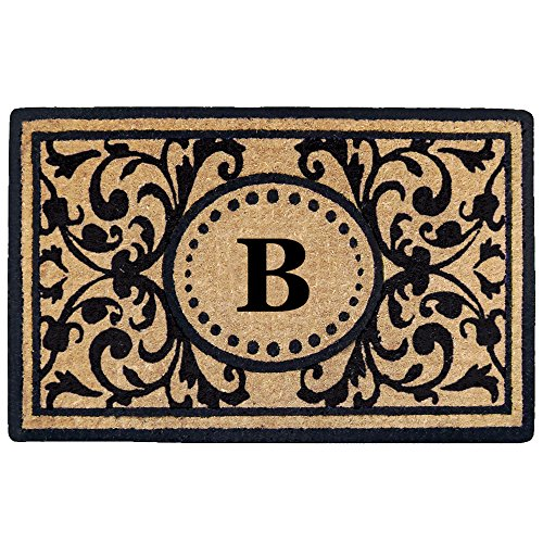 Creative Accents Heavy Duty Heritage Coco Mat, Monogrammed B, 22 x 36
