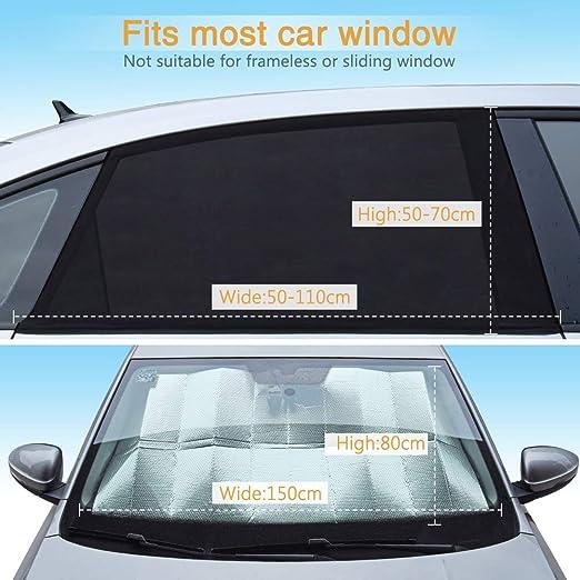 Car Auto Side Window Mesh Film Windshield Net Sun shade Sticker UV Protection J